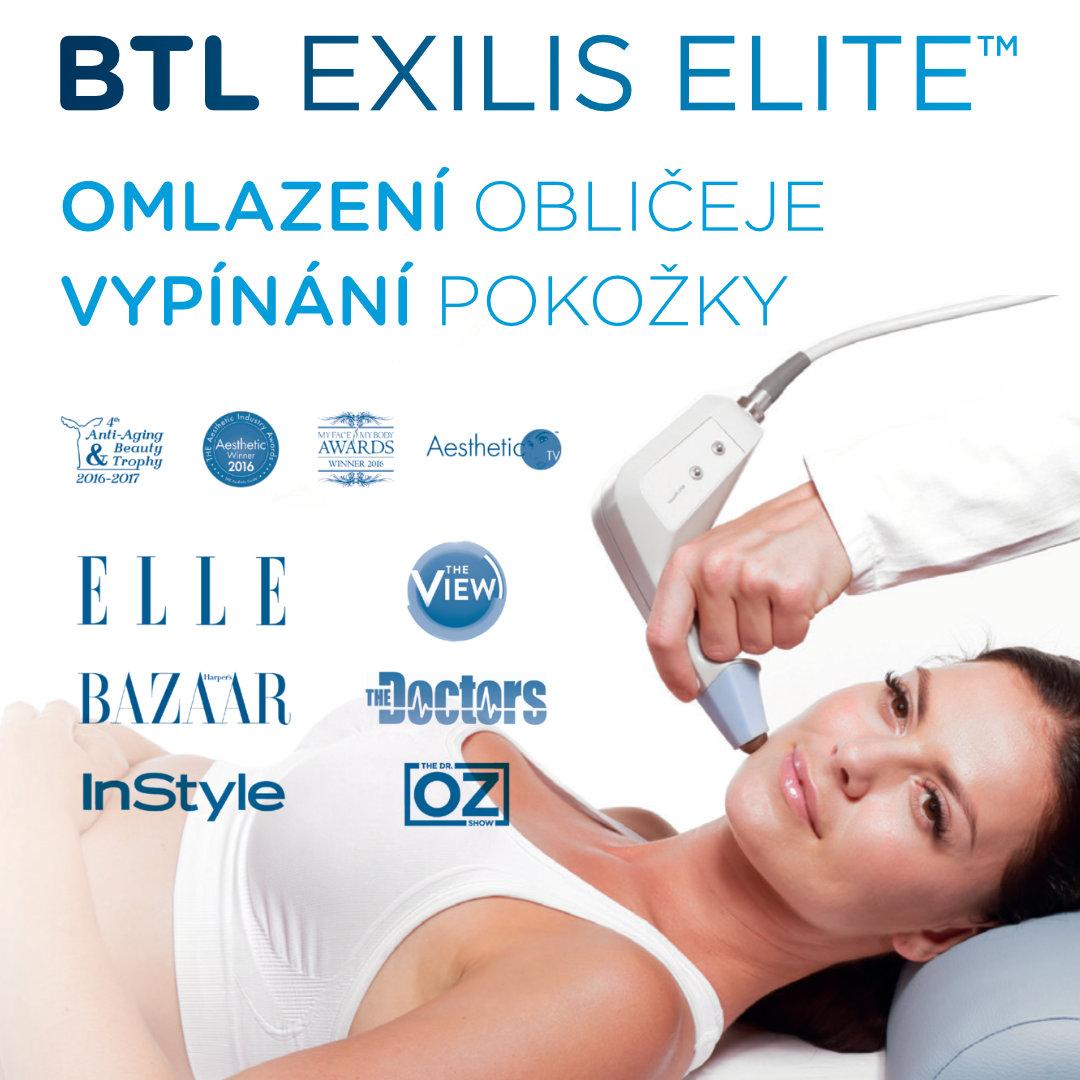 Omlazení obličeje radiofrekvencí (facelifting) s Exilis Elite. Vrásky mizí jako zázrakem