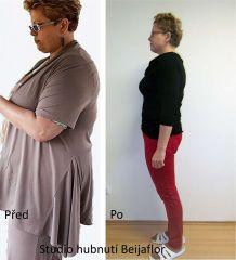 Hubnutí rekord paní L - Studio hubnutí a kosmetiky Beijaflor
